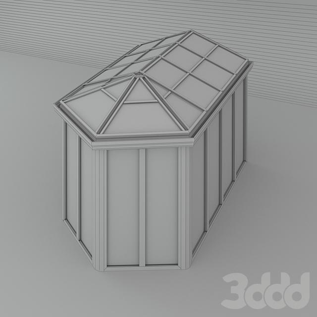 Зимний сад (№ 17) CMC 50 MODUS. Сегментный, с четырехскатной крышей