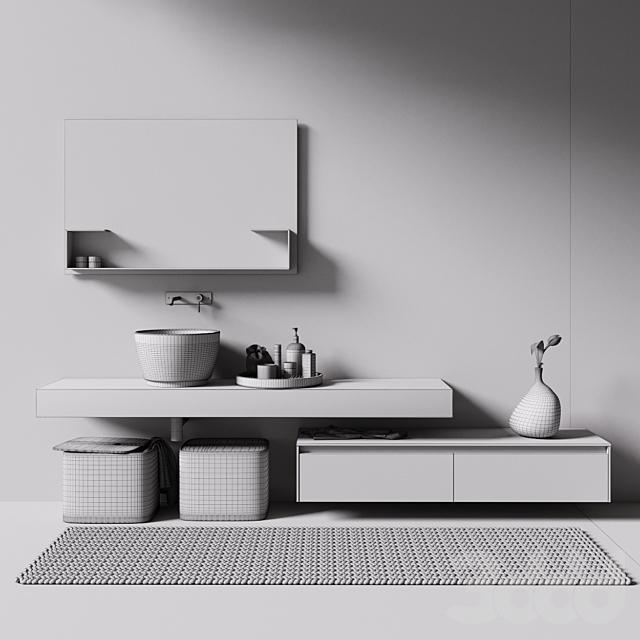 rexa design умывальник с мебелью и аксессуарами