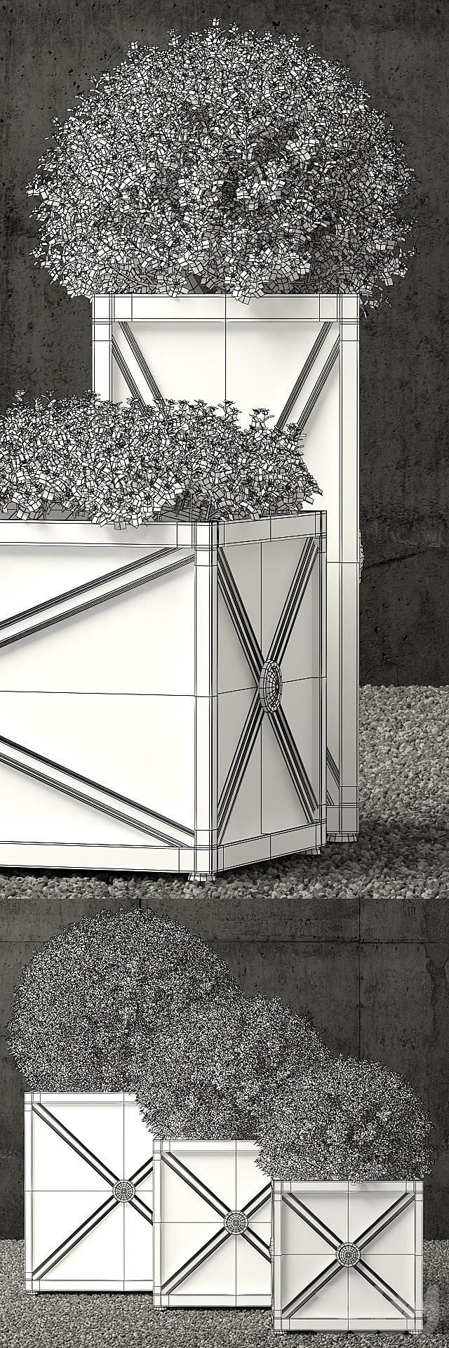 Restoration Hardware estate zinc x planters weathered zinc