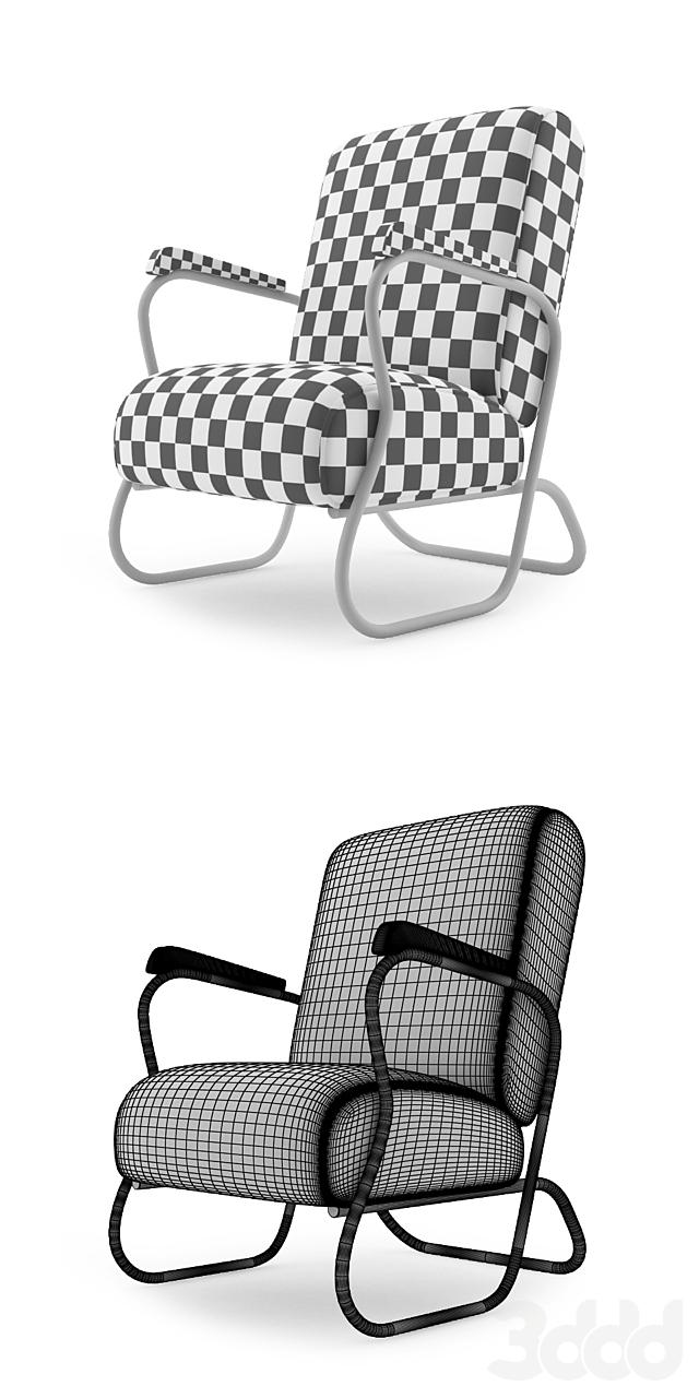 Art Deco Chrome Lounge Chair