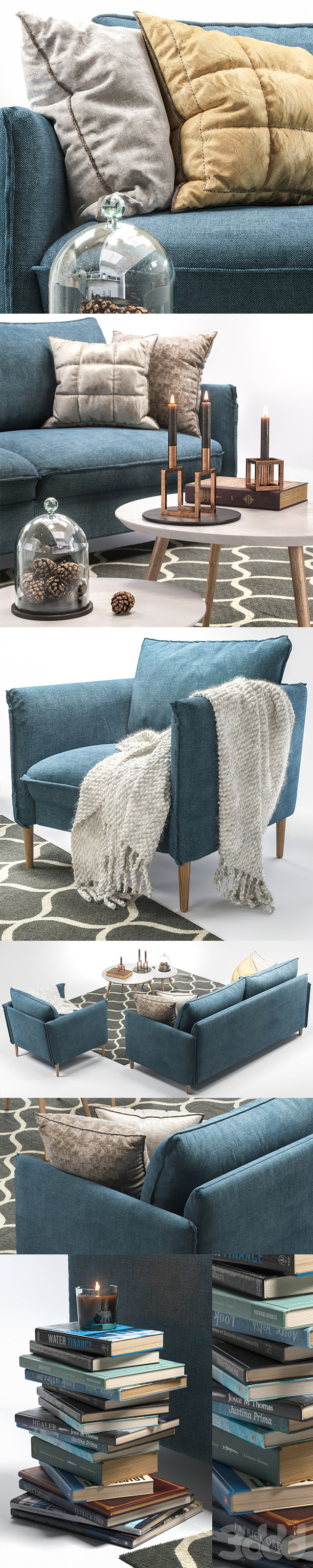 Диван и кресло Chic