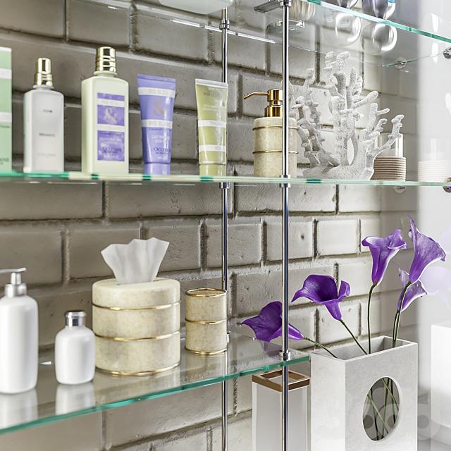 Аксессуары, декор и косметика для ванной set 4