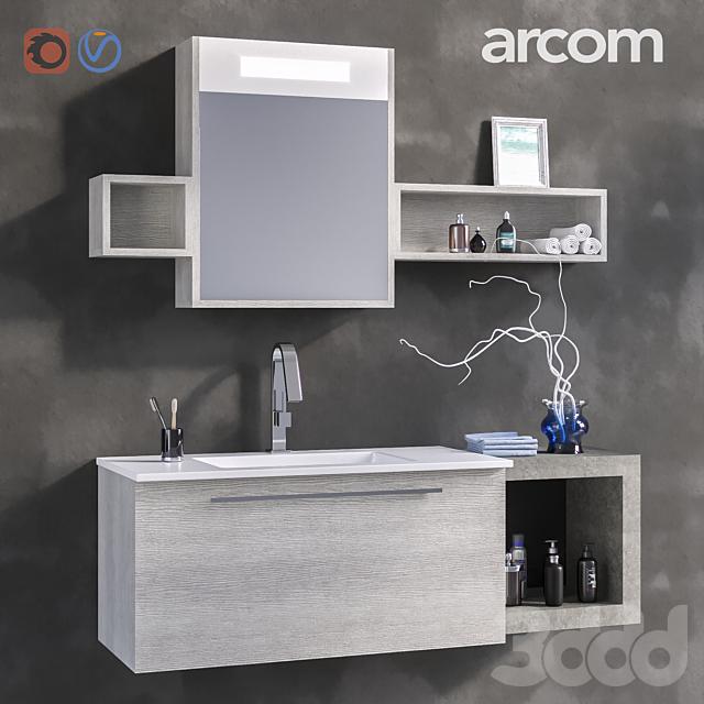 Комплект мебели для ванной комнаты  E.LY COMPOSITION 40