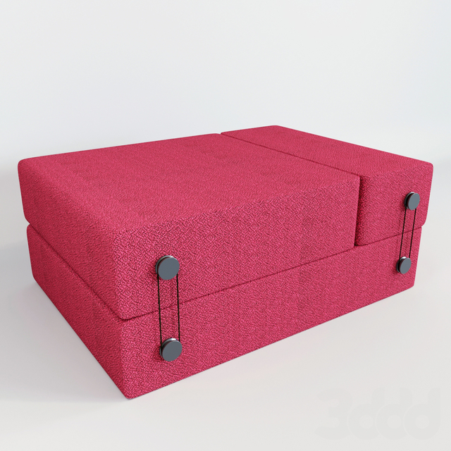 Folding pouffe