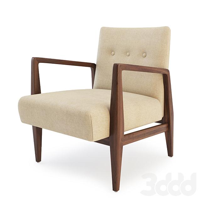 Walnut Arm Chair by Jens Risom