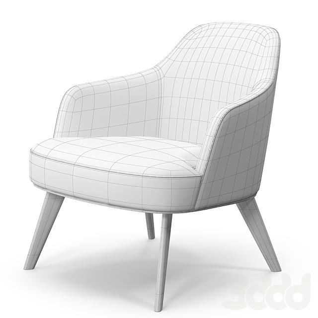 Poliform Jane armchair metal base