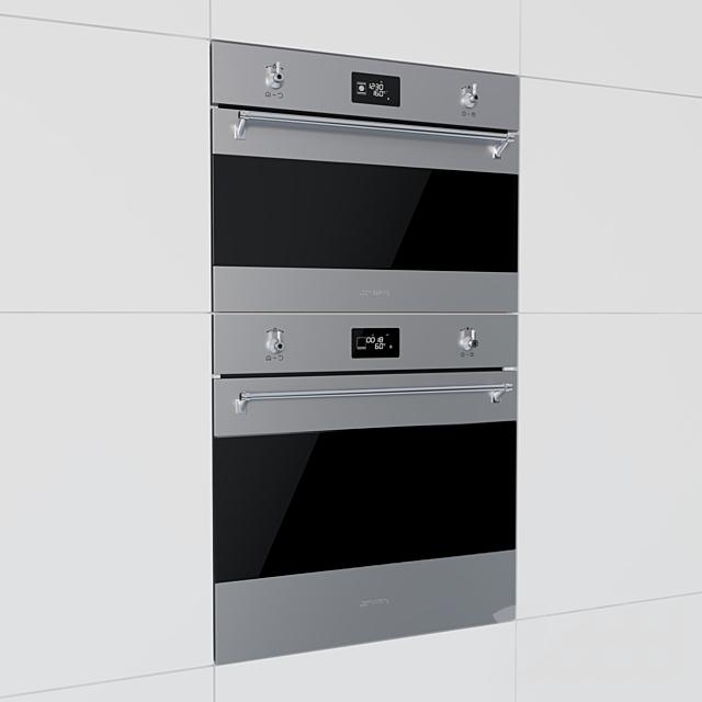 Smeg - духовой шкаф SFP6390XE и компактный духовой шкаф SF4390MCX
