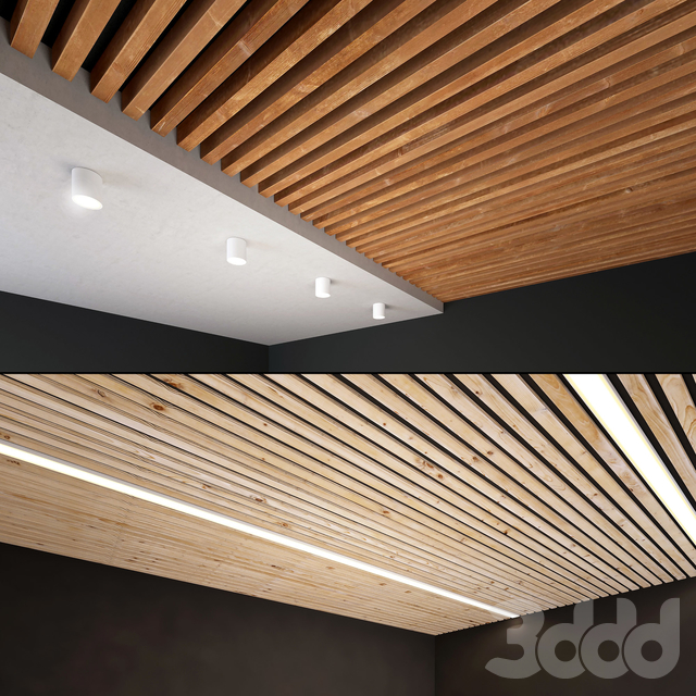 Деревянный потолок 5