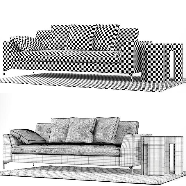Диван Meridiani LOUIS UP Sofa