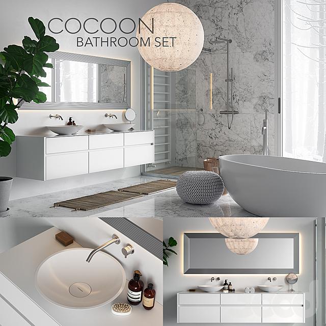 COCOON Bathroom Set (corona PBR, vray GGX)