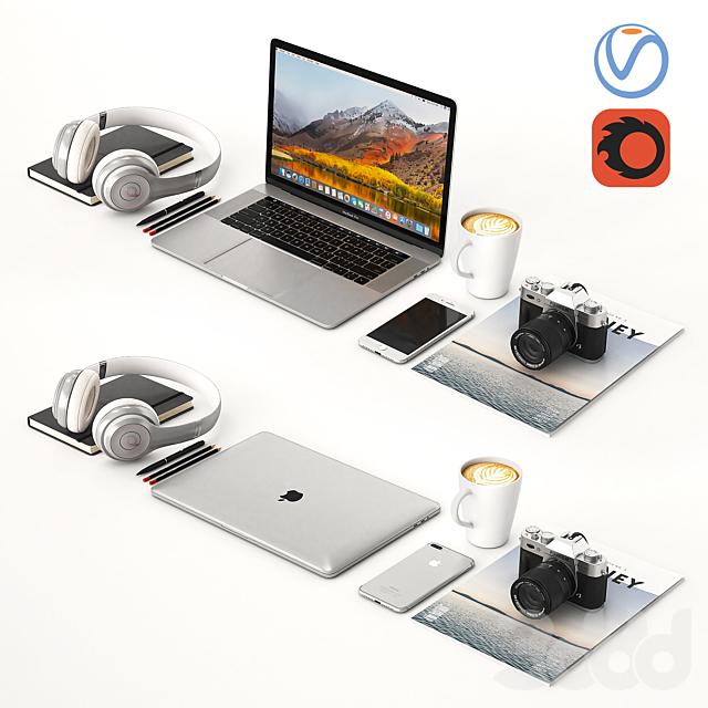 Workplace Silver MacBook