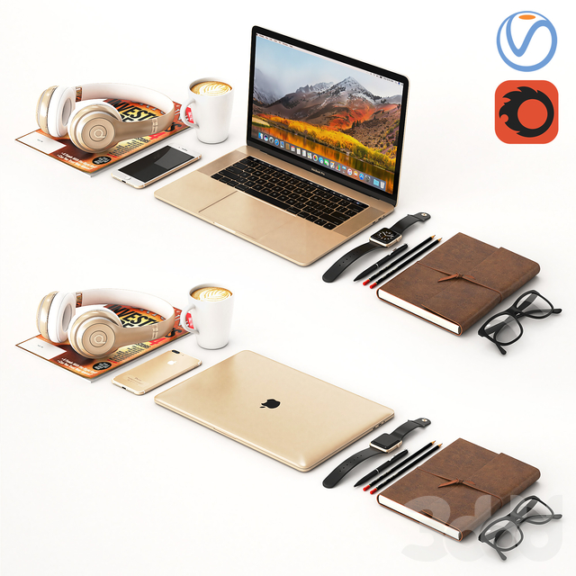Workplace Gold MacBook