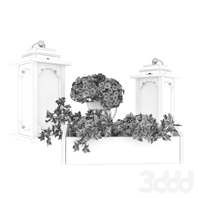 Hydrangea and Ivy - decorative set