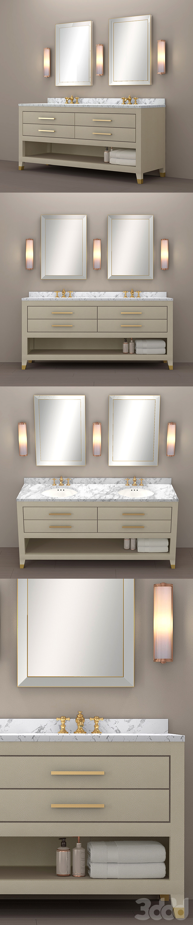 GRAYDON SHAGREEN DOUBLE WASHSTAND