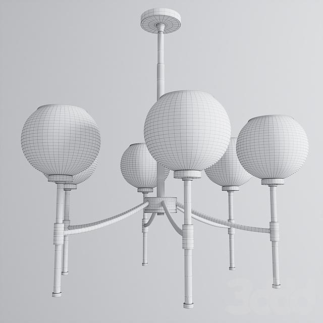 Vertical Globes Chandelier