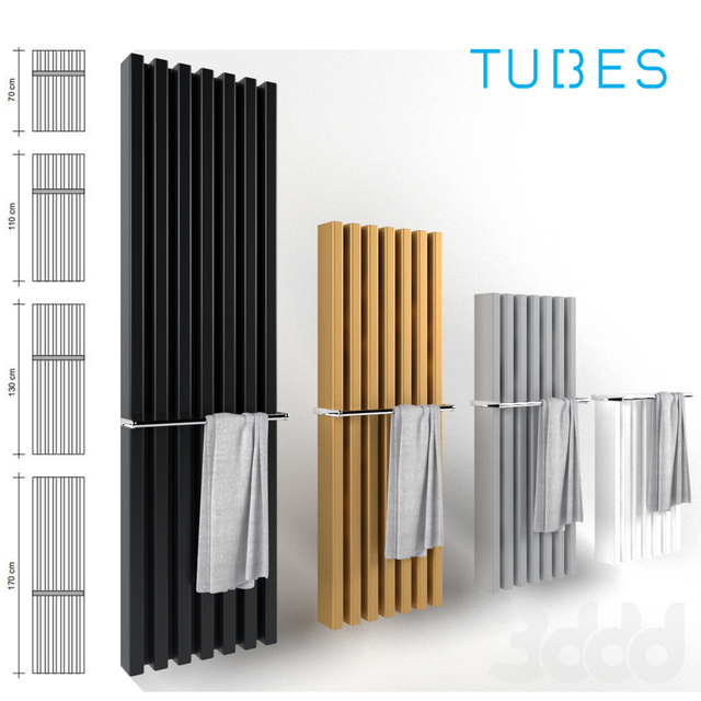 Decorative radiator set Soho Bathroom v2 by Palombo / Vertical wall-mounted