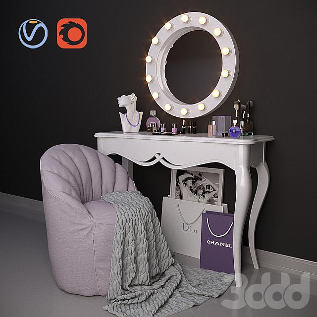 Декоративный набор для туалетного столика