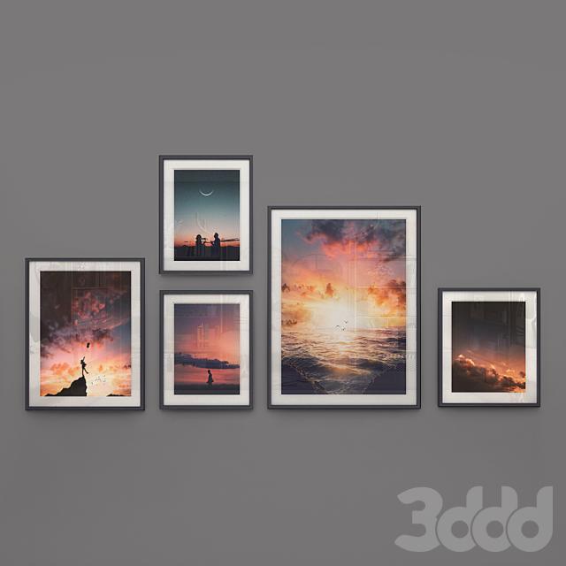 Set of romantic pictures