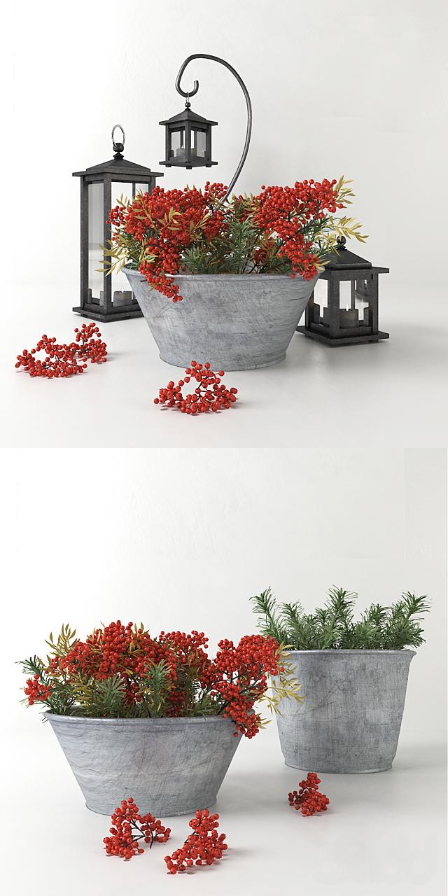 Зимний декоративный набор