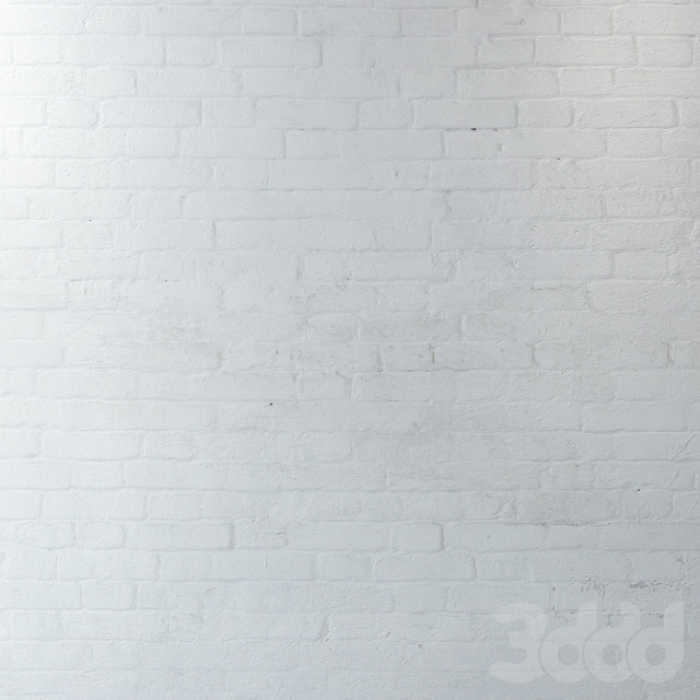 Состаренная кирпичная кладка из белого кирпича