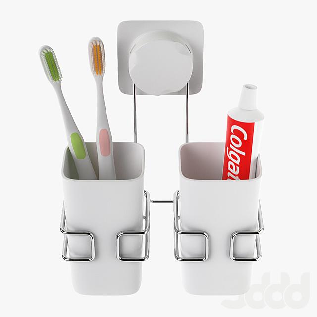 Cup Hanging Bathroom Toothbrush Holder