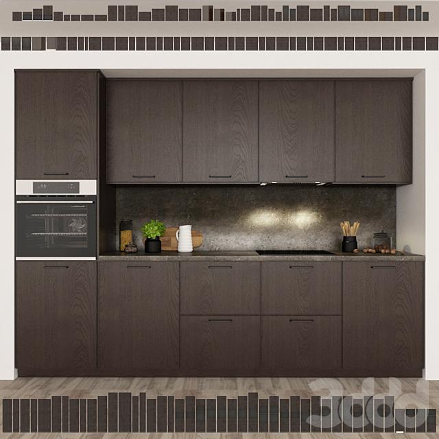 Кухня Ikea Метод Экестад / Коричневый.