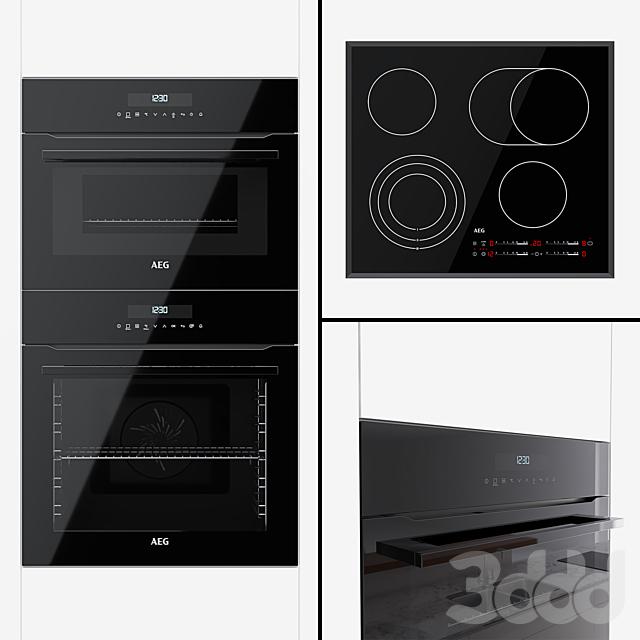 AEG - духовой шкаф BPR742320B, компактный духовой шкаф KMR721000B и варочная поверхность HK565407FB
