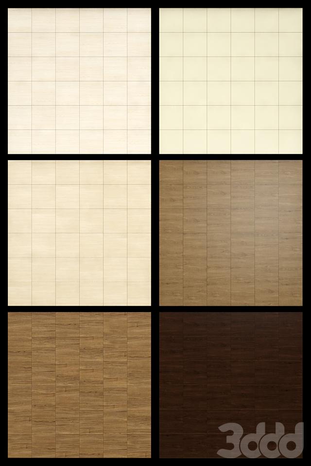 Акустические декоративные панели 6 видов, набор 1