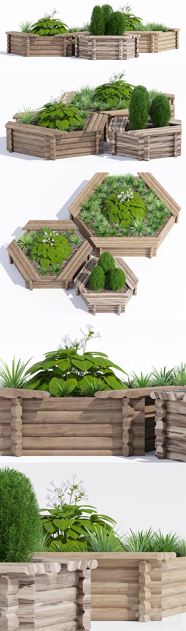 Hexagonal tree seat