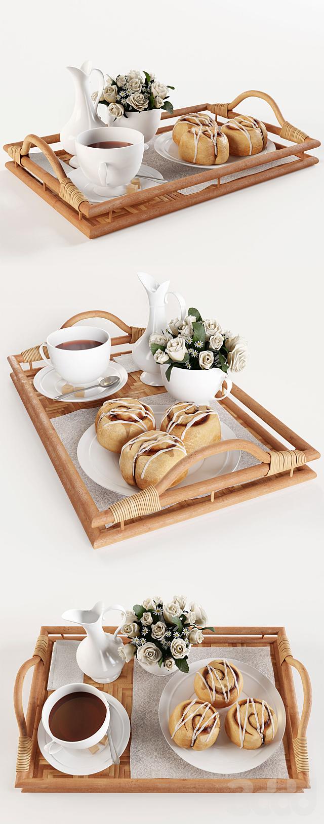 Завтрак на подносе W003