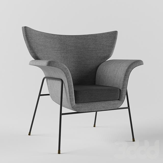 Augusto Bozzi Enameled Metal Lounge Chair