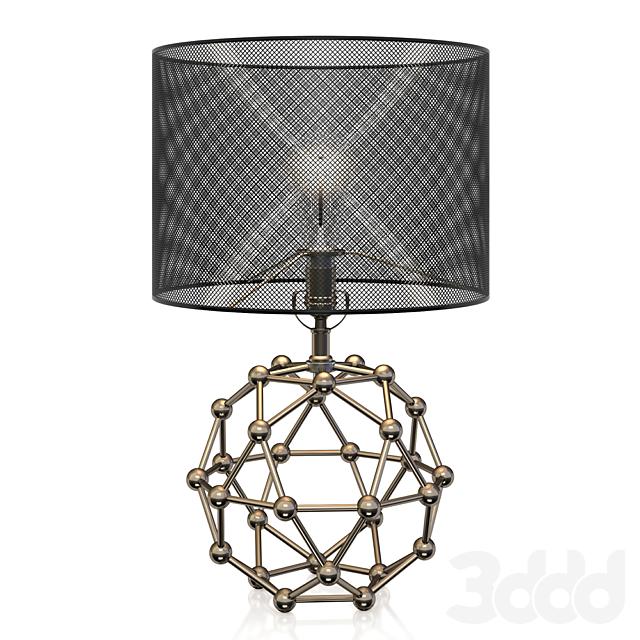 Regina Andrew Brass Model Molecule Lamp