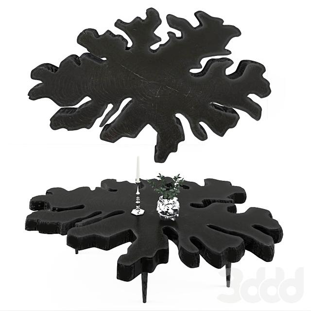 Стол из слэба черного цвета