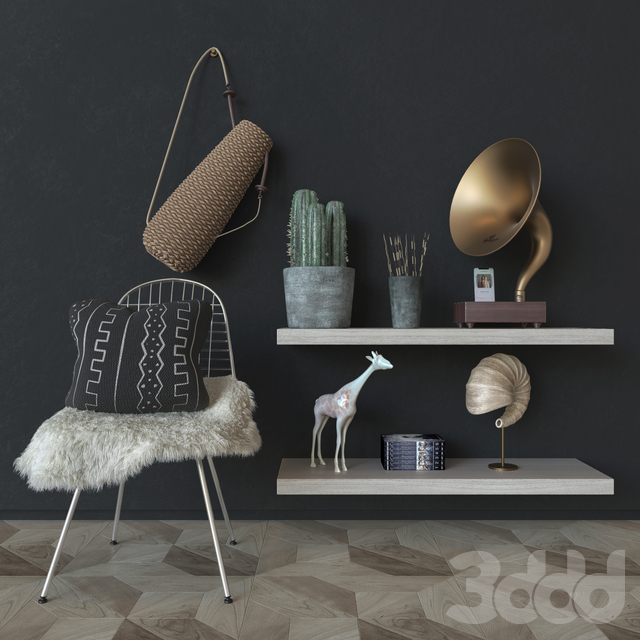 Modern decor set 02