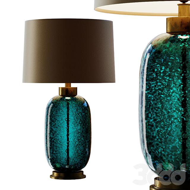 Mid Century Studio Art Glass Buffet Lamp.2