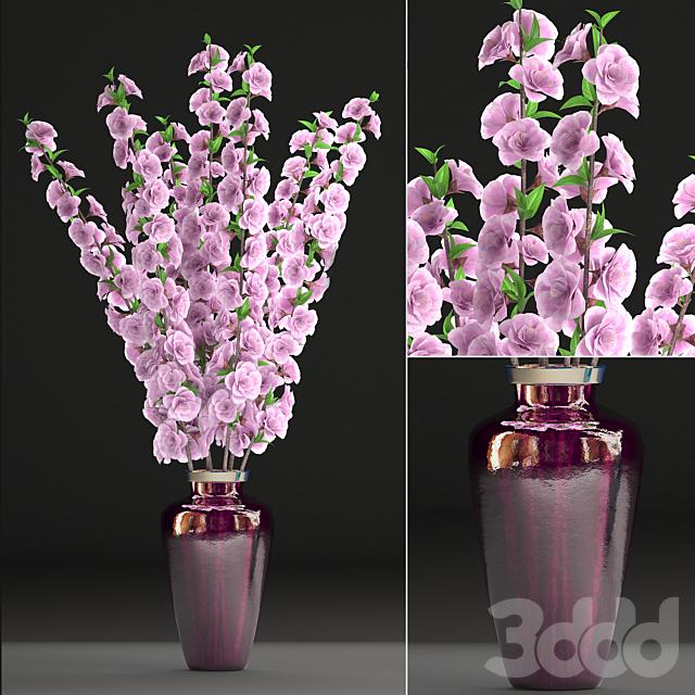 Коллекция цветов 28.  Букет цветущей сакуры