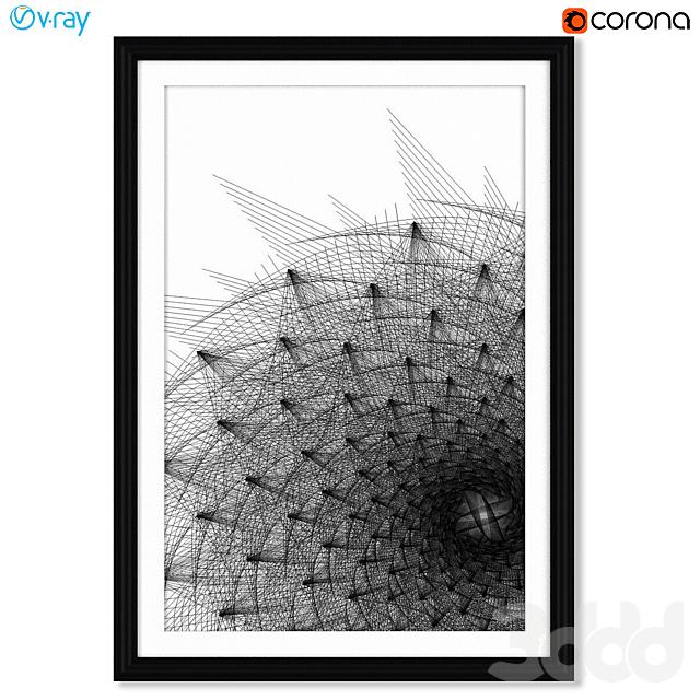 Серия чёрно-белых геометрических постеров.