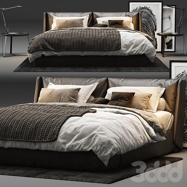 Natuzzi - Fenice Bed