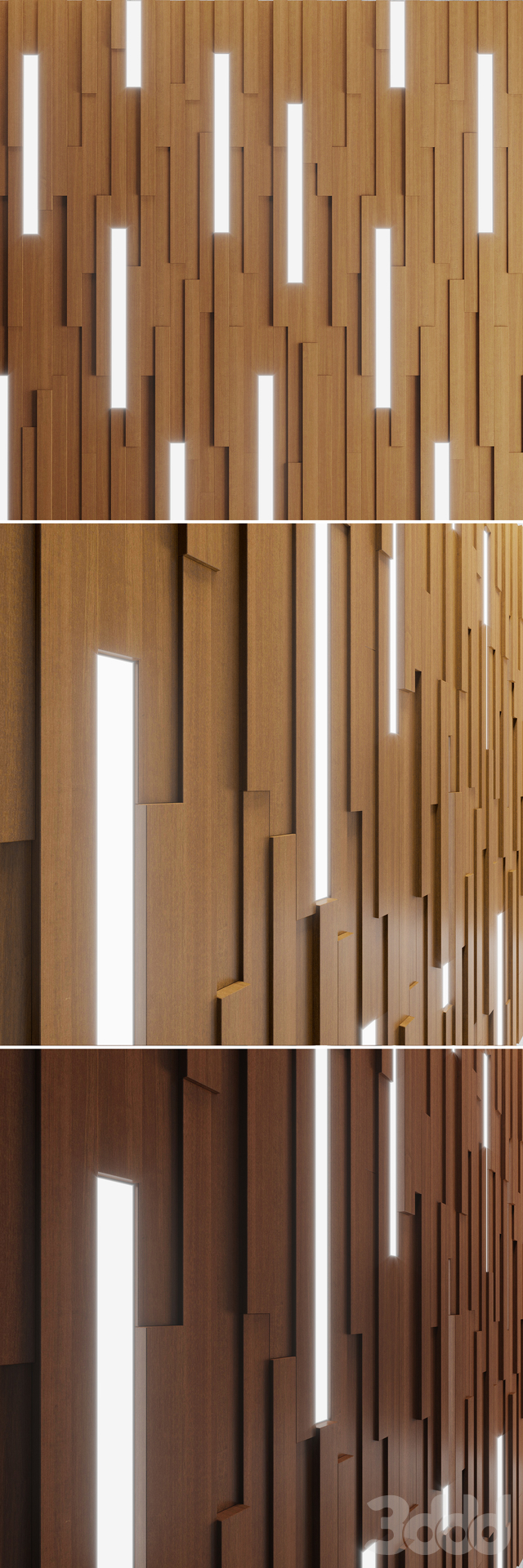 Wall Wooden Stripes
