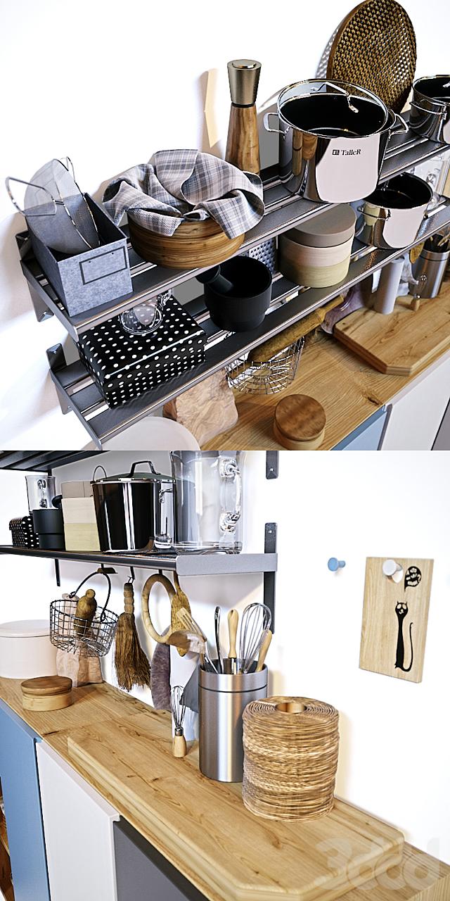 Кухонный набор с декором