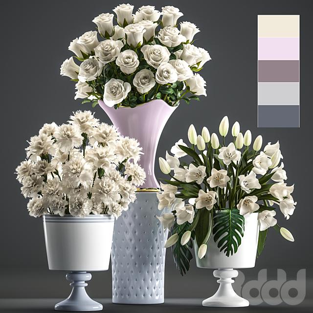Коллекция цветов 58. Белые букеты.