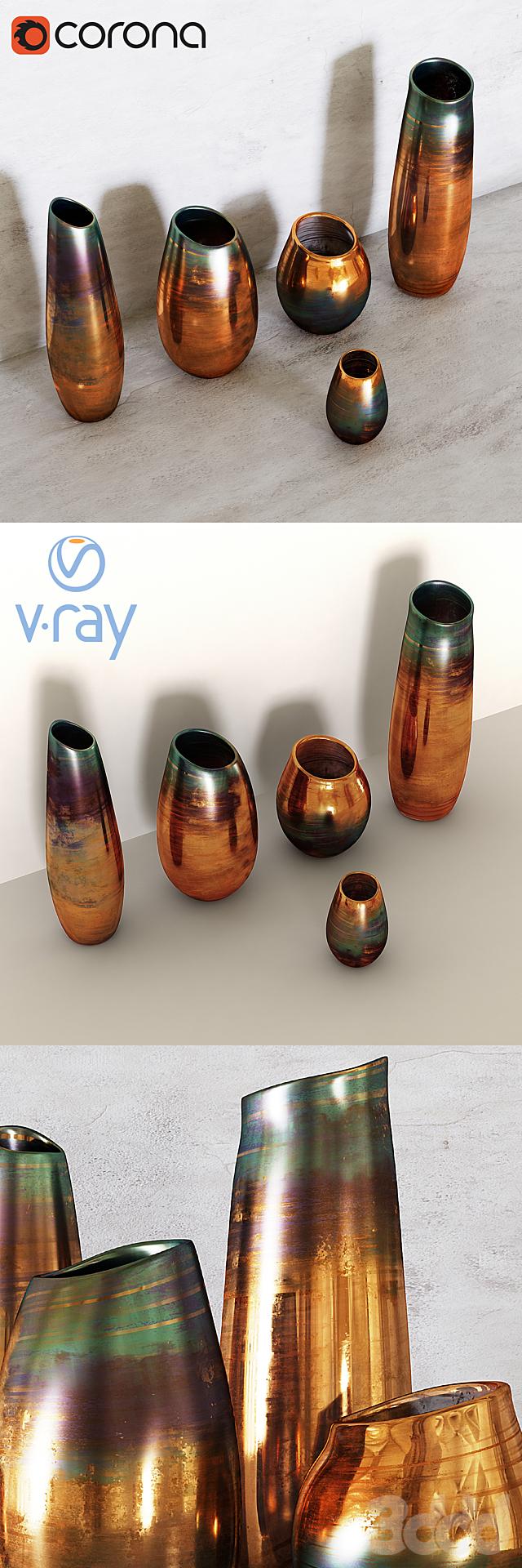 West Elm - Luster Curve Vases
