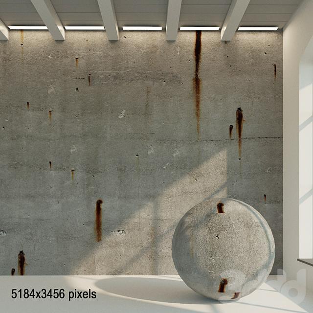 Бетонная стена. Старый бетон. 27
