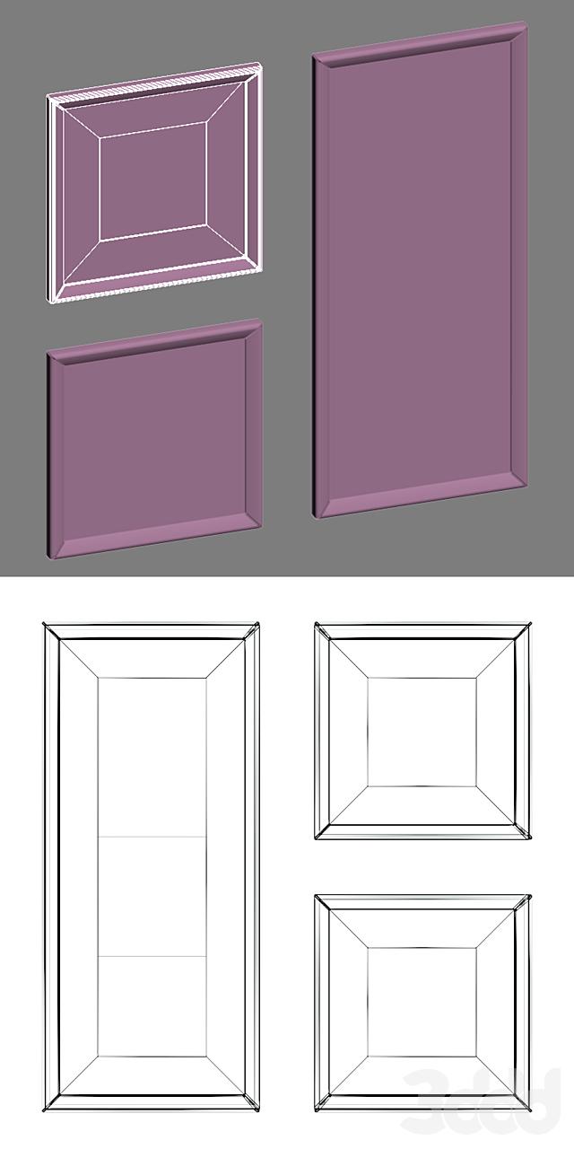 9 рамок с газетными вырезками. Комплект 02.