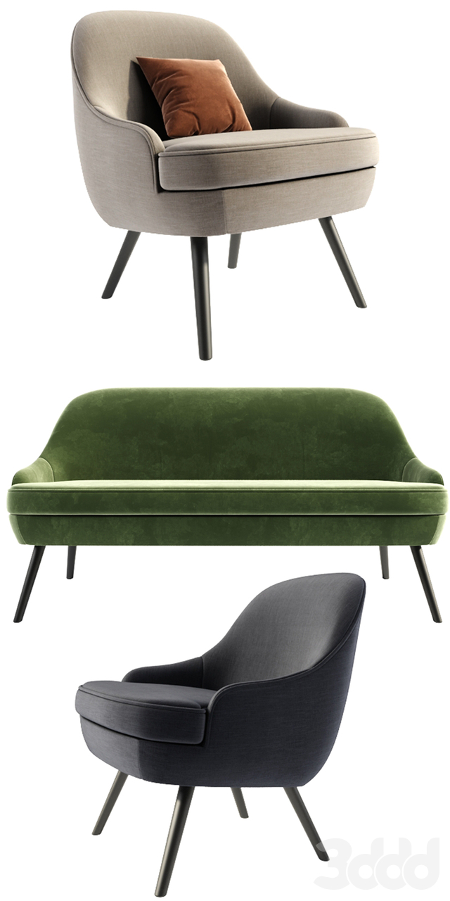 375 walter knoll Armchair And Sofa With Pillow