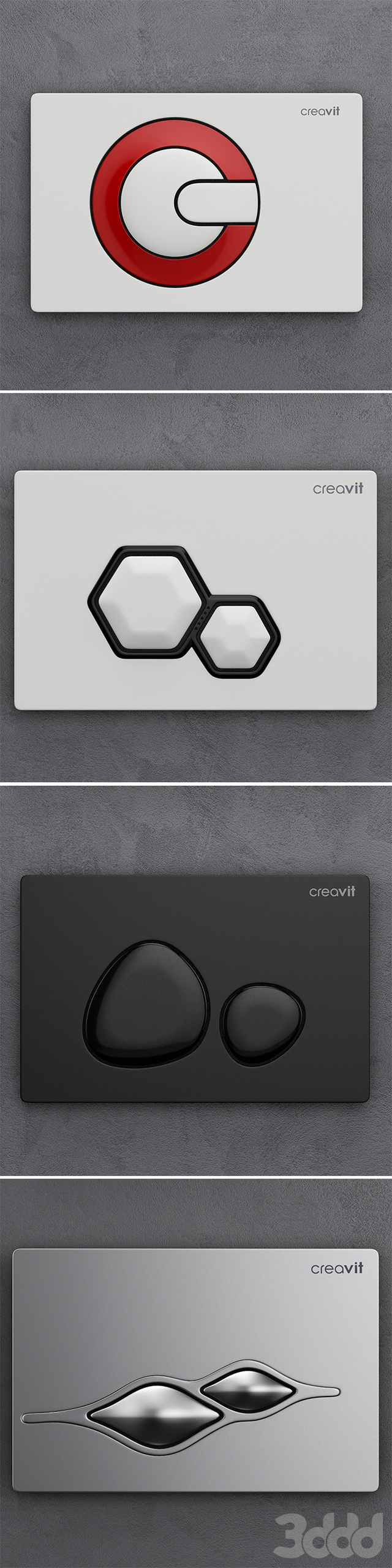 Набор кнопок для инсталляции Сreavit 1