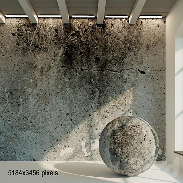 Бетонная стена. Старый бетон. 28