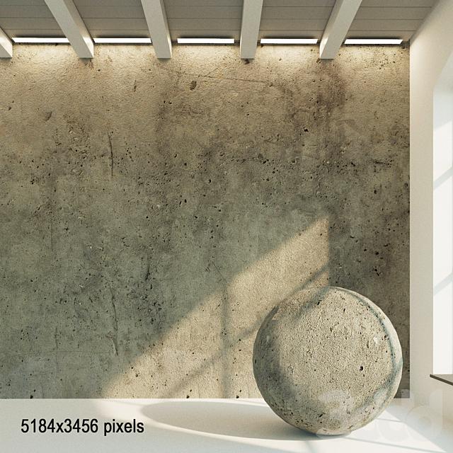 Бетонная стена. Старый бетон. 37
