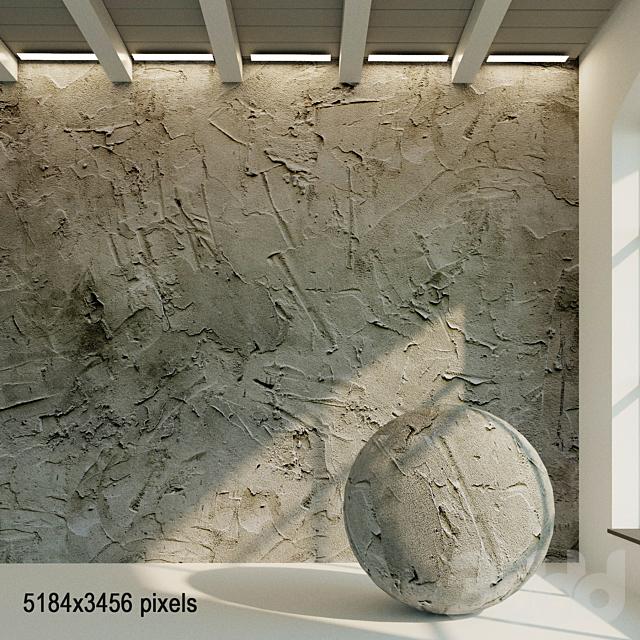 Бетонная стена. Старый бетон. 56