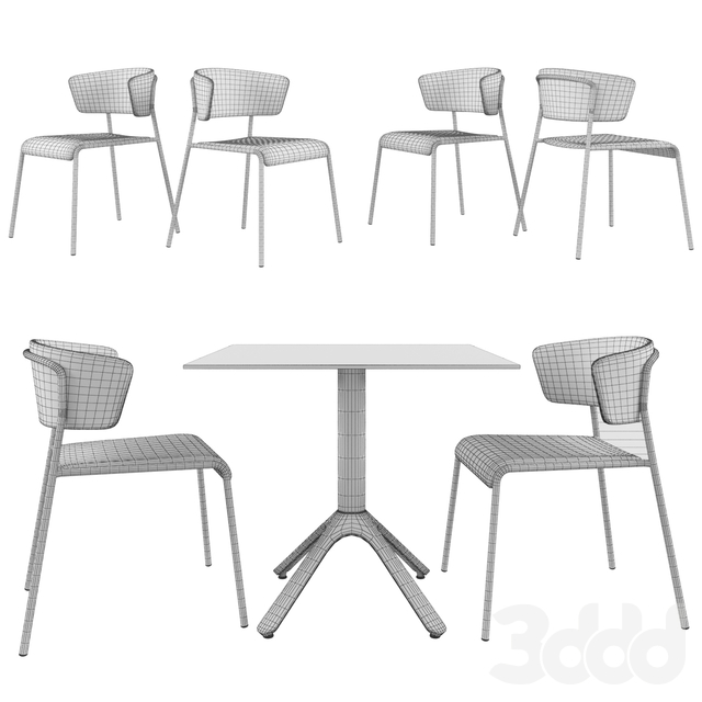 Table SCAB DESIGN Nemo. Chair SCAB DESIGN Lisa